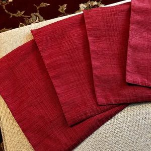 Other - Burgundy placemats set of 6